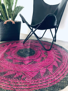 4ft Blue and Pink Sodsod Tribal Floor Mat Rug from Bukidnon (Pre Order)