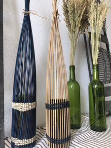 Recycled Bottle and Coconut Stick Vase