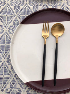 Brown Edged Plate - set of two