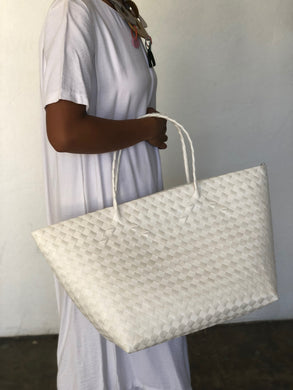 Carry All White with Zipper