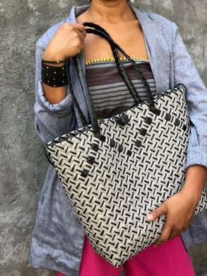 Urban Silver Black Bayong Laptop Bag with Ears (option to attach a bag strap)