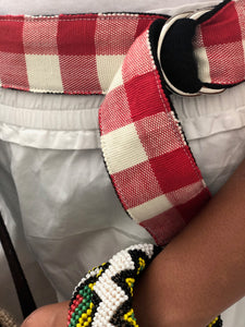 Marawi Belt in Red White Checkered