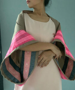Garbosa Reversible Poncho- Pink Abra Lankit and Customized Pink Marawi