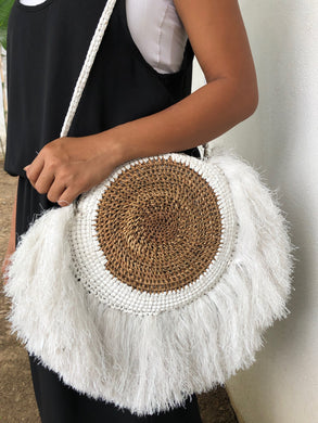 Fringe Shoulder Bag White