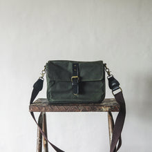Load image into Gallery viewer, Harvey Waxed Canvas Camera Bag (Fatigue Green)