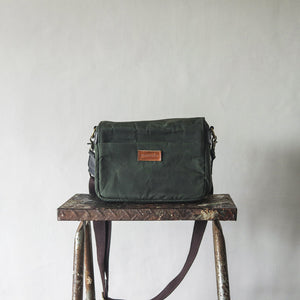 Harvey Waxed Canvas Camera Bag (Fatigue Green)