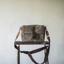 Load image into Gallery viewer, Harvey Waxed Canvas Camera Bag (Cement)