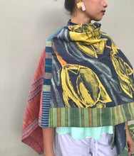 Load image into Gallery viewer, Tulips Yellow Kimono Poncho