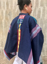 Load image into Gallery viewer, Artists Blue Kimono Poncho