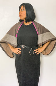 SOLD! Ponchosera 02 in Dark Brown and Premium Back to Back Binakol Weave