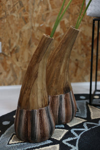 Water Hyacinth Covered Vase