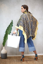 Load image into Gallery viewer, Kimono Poncho Hand Woven Hand Painted Hand Embroidered