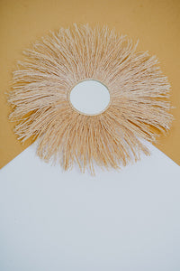 Sun Wall Hanging in Natural with small mirror