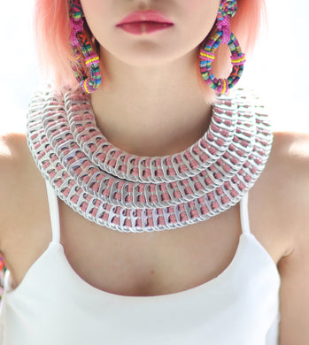 Marife Three Layered Pull Tabs Necklace