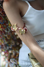 Load image into Gallery viewer, Muted Ugu Bigyan Floral Arm Band Bracelet