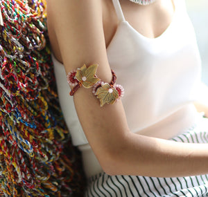 Muted Ugu Bigyan Floral Arm Band Bracelet