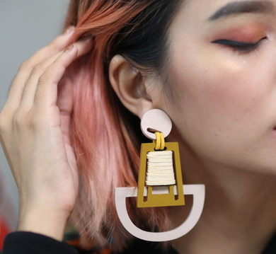 LAST PIECE! Brave Girl Wood Structured Statement Earrings