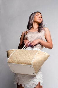 Happy Weekend Bag (White)