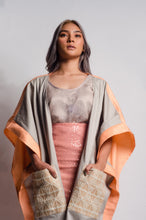 Load image into Gallery viewer, Glamorosa Poncho in Salmon and Yakan Pocket