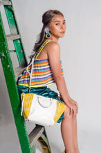 Load image into Gallery viewer, Marangal Purse 7 (Yello Tnalak in White Cow Leather)