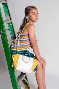 Marangal Purse 7 (Yello Tnalak in White Cow Leather)