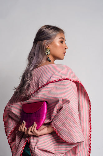 Light Pink Binakol Poncho from the Tingguian Tribe of Abra