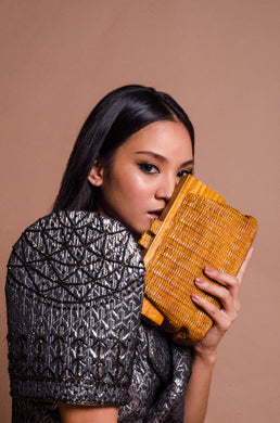 Habi Woodcarved Handbag