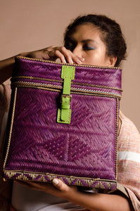 Purple Bamboo Backpack by the Teduray Tribe of Cotabato