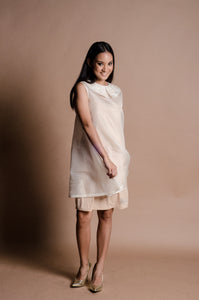 Jusi Sleeveless Dress with Jeannie Javelosa Beadworks (Cream)