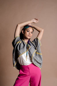 Grey Yellow Poncho from the Tingguian Tribe of Abra