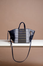Load image into Gallery viewer, Marangal Purse 2 (Sagada and Abra Handwoven Textile in Blue)