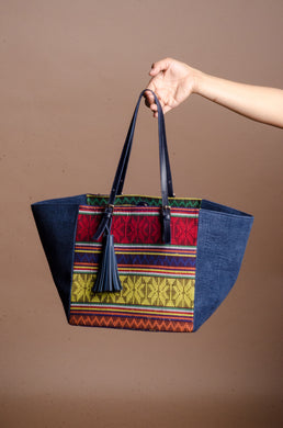 LAST PIECE! Galak Tote Bag in Zamboanga Premium Handwoven Fabric