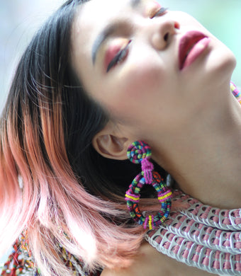 Ifugao Clip On  Earrings Red