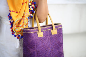 Purple Bamboo Hand Bag by the Teduray Tribe of Cotabato