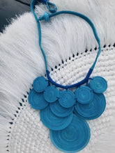 Load image into Gallery viewer, Rebecca Multi-layered Rolled Paper Necklace (Blue)