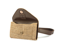 Load image into Gallery viewer, Coffee Sack and Leather Belt Bag