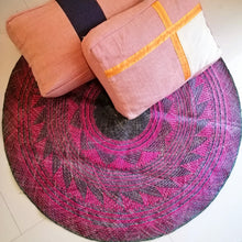 Load image into Gallery viewer, 4ft Blue and Pink Sodsod Tribal Floor Mat Rug from Bukidnon (Pre Order)