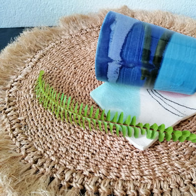 Fringe Abaca Charger Plate