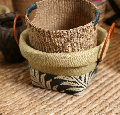 Basey Leaf Basket - Set of 3