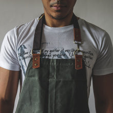 Load image into Gallery viewer, Bennett Waxed Canvas Barista Apron - Fatigue Green