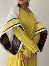 Load image into Gallery viewer, Magara White Poncho in Premium Zamboanga and Yellow Negros Weaves