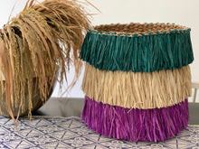 Load image into Gallery viewer, Seagrass Boho Raffia Planter Basket