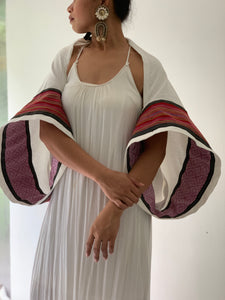 Elegante Poncho 3: Pinas Sadya White Series (Inabel Pink and Kantarines Res Stripes)