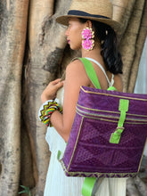 Load image into Gallery viewer, Purple Bamboo Backpack by the Teduray Tribe of Cotabato