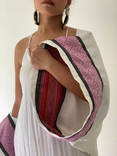Load image into Gallery viewer, Elegante Poncho 3: Pinas Sadya White Series (Inabel Pink and Kantarines Res Stripes)