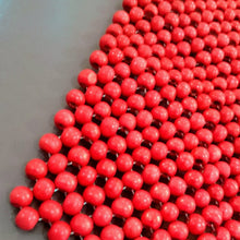 Load image into Gallery viewer, 6 Wooden Beads Placemats - Available in Red and Natural