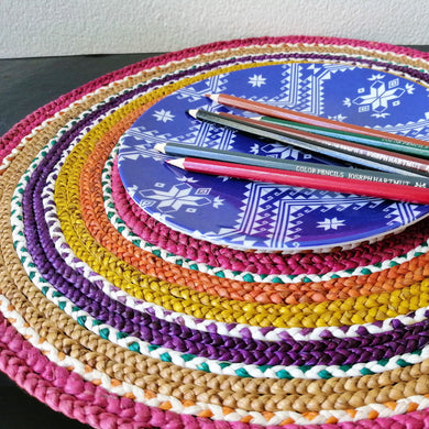 Rainbow Plate Chargers Made of Water Hyacinth of Carmen Davao 12