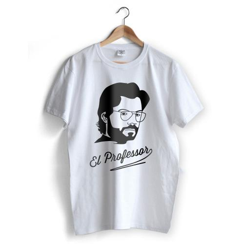 El Professor T-Shirt Branco Sale - Size S