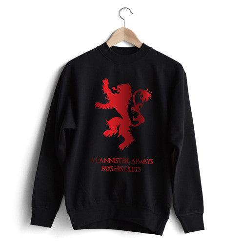 House Lannister 'A Lannister Always Pays His Debts' Sweat