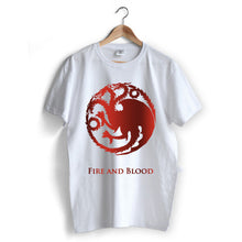Carregar imagem no visualizador da galeria, House Targaryen 'Fire and Blood' T-Shirt
